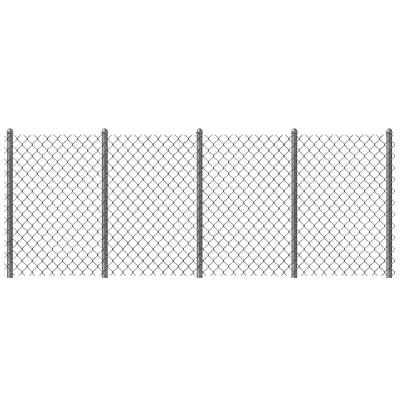 Heavy duty galvanized chainlink fence