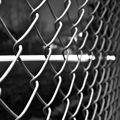 chain link cyclone wire fence